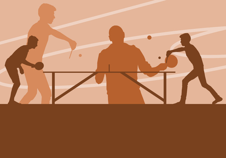 Table tennis player vector abstract background