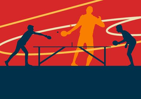 テーブル テニス プレーヤーのベクトルの抽象的な背景  イラスト・ベクター素材