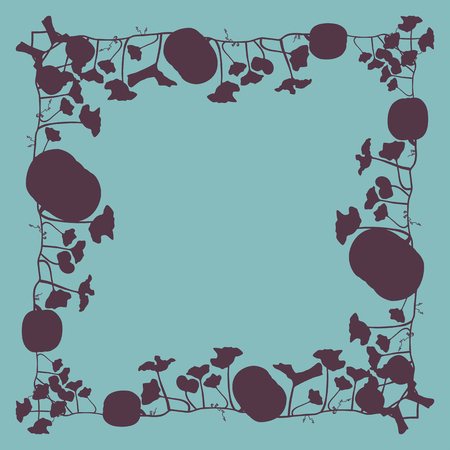 カボチャ フレーム ベクトル背景抽象カードまたはバナー  イラスト・ベクター素材