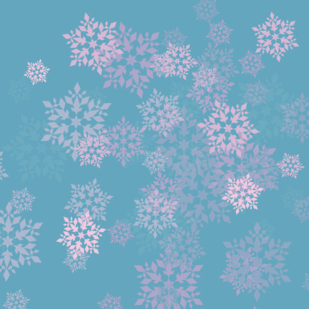 Snowflake vector abstract background for poster or card Illustration