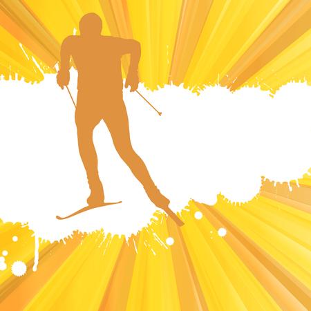 スキーマンベクトル抽象バースト背景