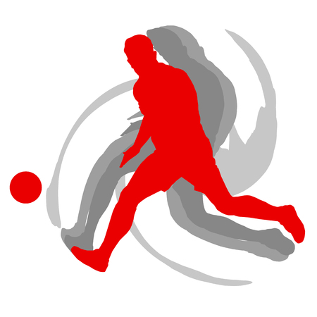 Soccer player man isolated on white background vector motion concept