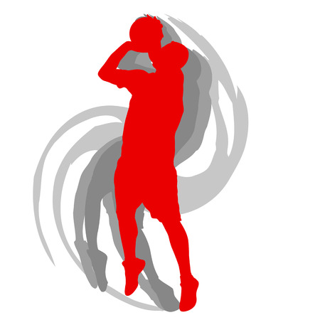 Basketball player in action vector background concept motion