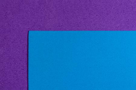 ethylene: Eva foam ethylene vinyl acetate blue surface on purple sponge plush background Stock Photo