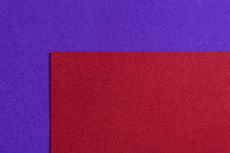 ethylene: Eva foam ethylene vinyl acetate red surface on purple sponge plush background