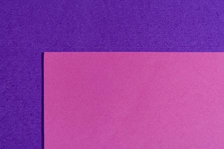ethylene: Eva foam ethylene vinyl acetate smooth pink surface on purple sponge plush background