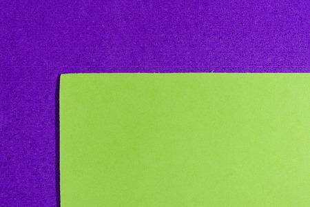 ethylene: Eva foam ethylene vinyl acetate smooth apple green surface on purple sponge plush background