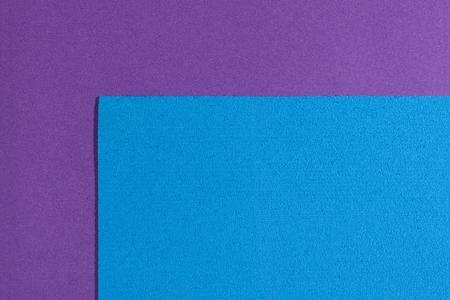 eva: Eva foam ethylene vinyl acetate sponge plush blue surface on purple smooth background