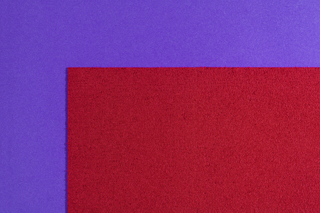 acetate: Eva foam ethylene vinyl acetate sponge plush red surface on purple smooth background