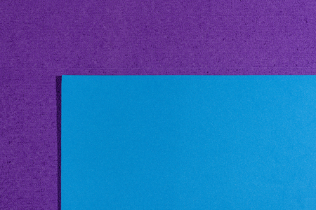 acetate: Eva foam ethylene vinyl acetate smooth blue surface on purple sponge plush background