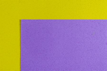 ethylene: Eva foam ethylene vinyl acetate light purple surface on lemon yellow sponge plush background