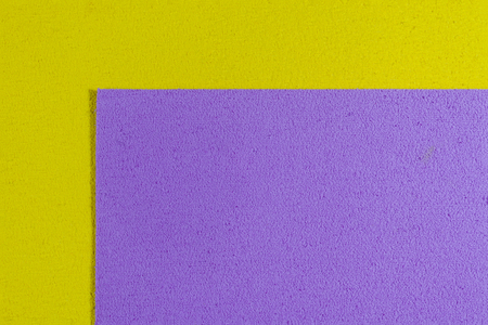 acetate: Eva foam ethylene vinyl acetate light purple surface on lemon yellow sponge plush background