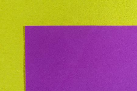 ethylene: Eva foam ethylene vinyl acetate smooth pink surface on lemon yellow sponge plush background