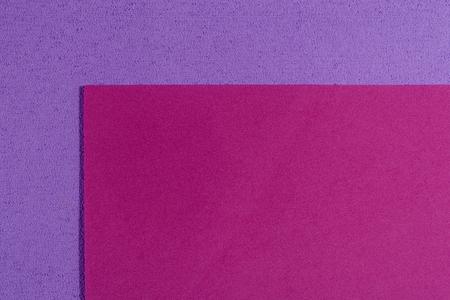 acetate: Eva foam ethylene vinyl acetate smooth pink surface on light purple sponge plush background