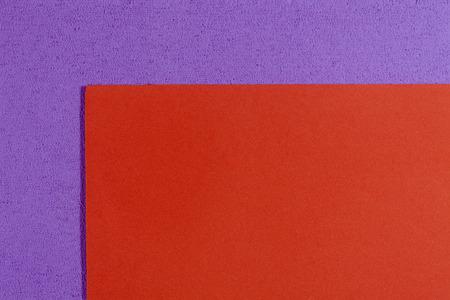 eva: Eva foam ethylene vinyl acetate smooth orange surface on light purple sponge plush background