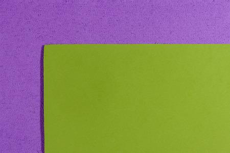 ethylene: Eva foam ethylene vinyl acetate smooth apple green surface on light purple sponge plush background