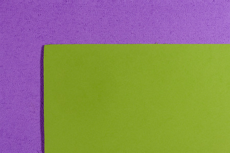 acetate: Eva foam ethylene vinyl acetate smooth apple green surface on light purple sponge plush background