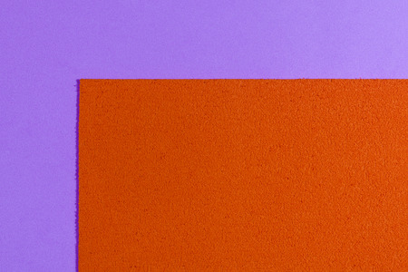 ethylene: Eva foam ethylene vinyl acetate sponge plush orange surface on light purple smooth background