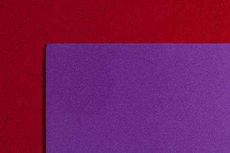 acetate: Eva foam ethylene vinyl acetate smooth purple surface on red sponge plush background Stock Photo