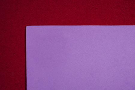 ethylene: Eva foam ethylene vinyl acetate smooth bright purple surface on red sponge plush background