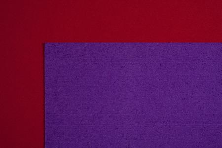 eva: Eva foam ethylene vinyl acetate sponge plush purple surface on red smooth background