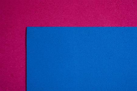 ethylene: Eva foam ethylene vinyl acetate blue surface on pink sponge plush background
