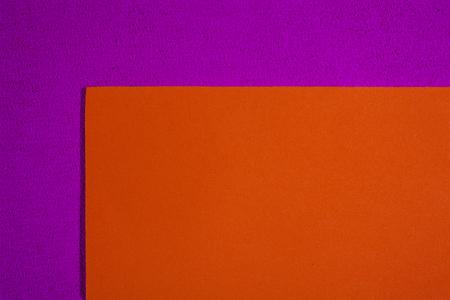 eva: Eva foam ethylene vinyl acetate smooth orange surface on pink sponge plush background