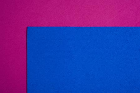 ethylene: Eva foam ethylene vinyl acetate sponge plush blue surface on pink smooth background