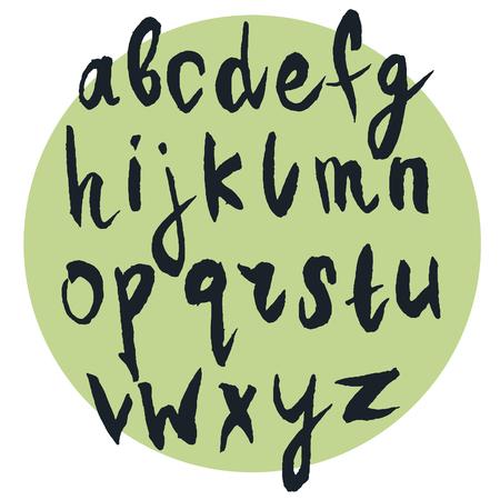 Alfabeto escrito a mano, letras de la mano de tinta. letras cepillo moderno. Dibujado a mano las letras en mayúsculas. Foto de archivo - 47707268