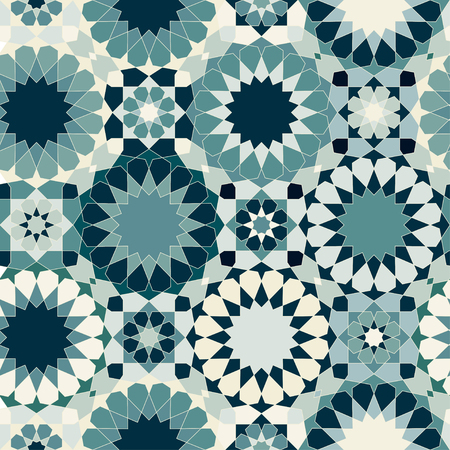 white tile: Oriental seamless mosaic pattern. Tiles, islamic ornaments. Can be used for wallpaper, pattern fills, web page background, surface textures.