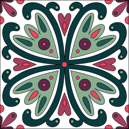 wall hanging: Oriental traditional ornament, pattern, tile design, vector illustration can be used for desktop wallpaper or frame for a wall hanging or poster,for pattern fills, surface textures, textile.