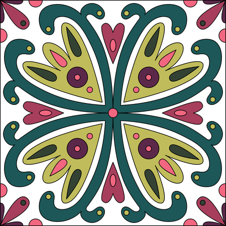desktop wallpaper: Oriental traditional floral ornament, Moroccan pattern, tile design, vector illustration can be used for desktop wallpaper or frame for a wall hanging or poster, surface textures, textile. Illustration