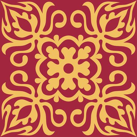 malta: Set with Beautiful ornamental tile background. Vector illustration great for patterns, vintage design, and wallpaper. Illustration