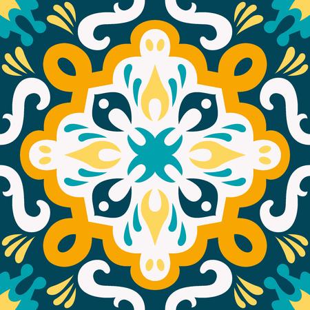 Oriental traditional ornament, Mediterranean seamless pattern, tile design, vector illustration.