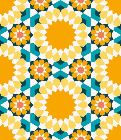 Modelo inconsútil ornamental. Fondo abstracto de vector. Marruecos, fondo islámico árabe tradicional. Elemento de decoración de mezquita Ideal para decoración de paredes y diseño de papel de regalo. Ilustración de vector