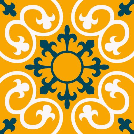 Ornement traditionnel oriental, modèle sans couture méditerranéen, conception de carreaux, illustration vectorielle? Un être utilisé pour le papier peint de bureau pour une tenture murale ou une affiche, des motifs de remplissage, des textures de surface, du textile. Vecteurs