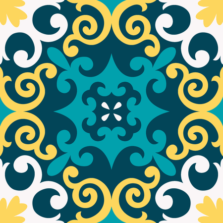 Oriental traditional ornament,Mediterranean seamless pattern, tile design, vector illustration ?an be used for desktop wallpaper for a wall hanging or poster, pattern fills, surface textures, textile.