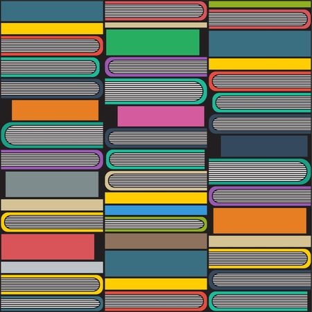 magazine stack: Books illustration, colorful background. Education concept. Stack of multi colored books.