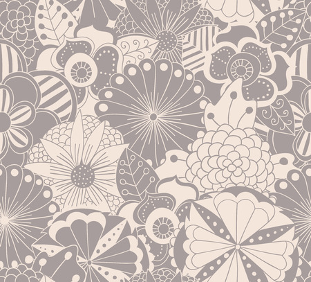 Floral pattern in soft colors. Seamless pattern can be used for wallpaper, pattern fills, web page background,surface textures. Flowers background