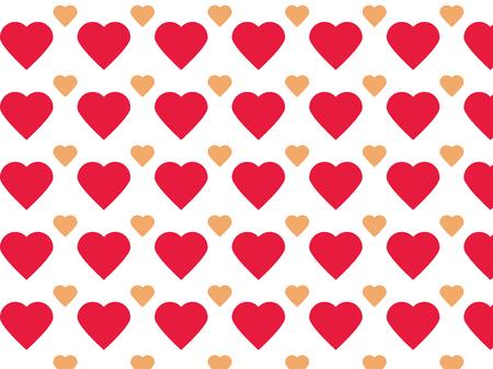 flirt: Simple two colored heart pattern Illustration