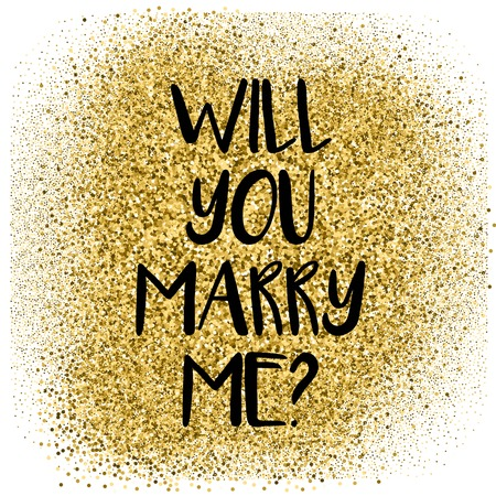 splendour: Will you merry me card with golden dust