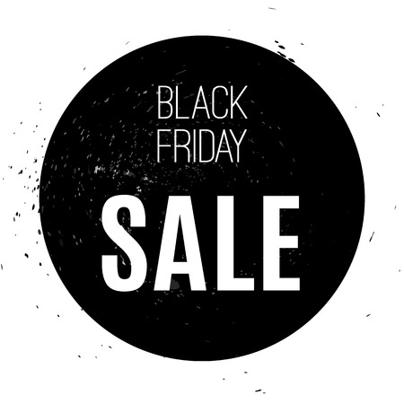 Black friday sale banner in black and white contrast