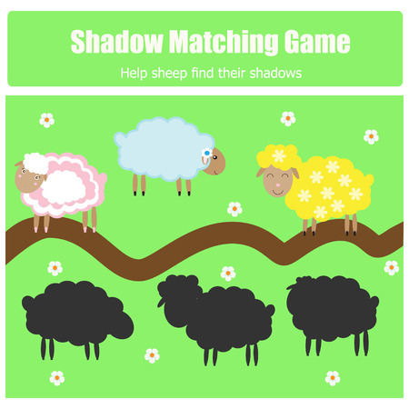shadow match: Match the shadow game for kids. Find the right shadow task