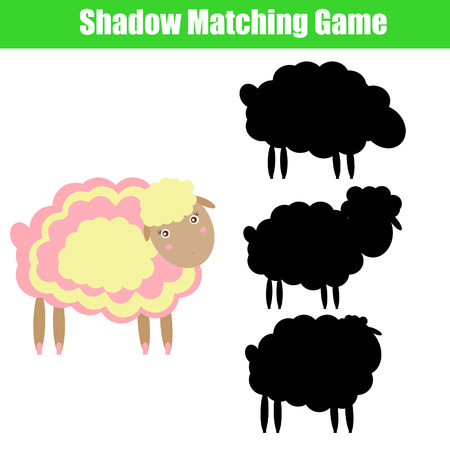 shadow match: Match the shadow children game Illustration