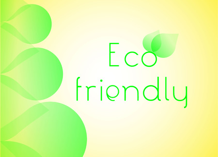 sample environment: Eco friendly concept background with green shapes and soft yellow light