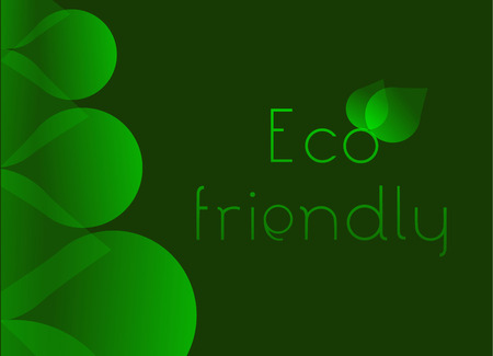 sample environment: Eco friendly concept background with green shapes and back