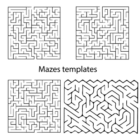 developmental: Maze templates for design, presentations, children books and etc