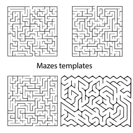 Maze templates for design, presentations, children books and etc