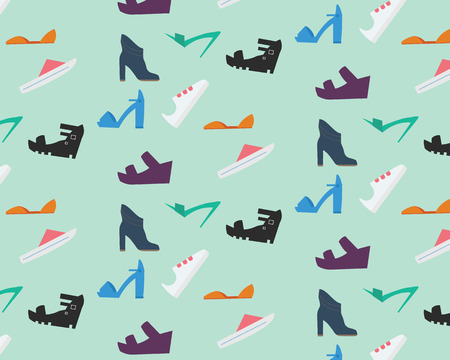 Womens shoes pattern. Nine types of women shoes