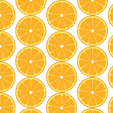 one color: Oranges pattern. Slices of orange, background, illustration